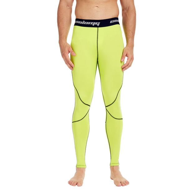 Yellow Compression Tights Pants for Men & Youth Boys