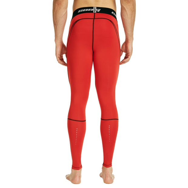 Dark Red Compression Tights Pants