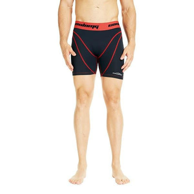 Men's Black & Red Training Shorts