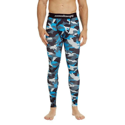 Light Navy Camo Compression Pants