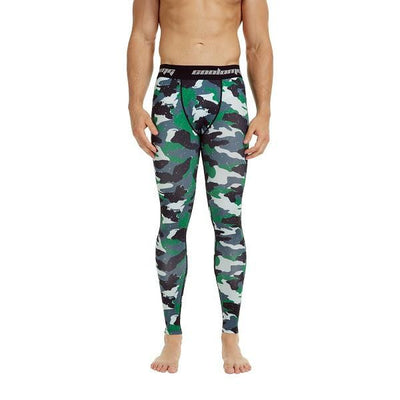 Camo Green  Compression Tights Pants for Men & Youth Boys
