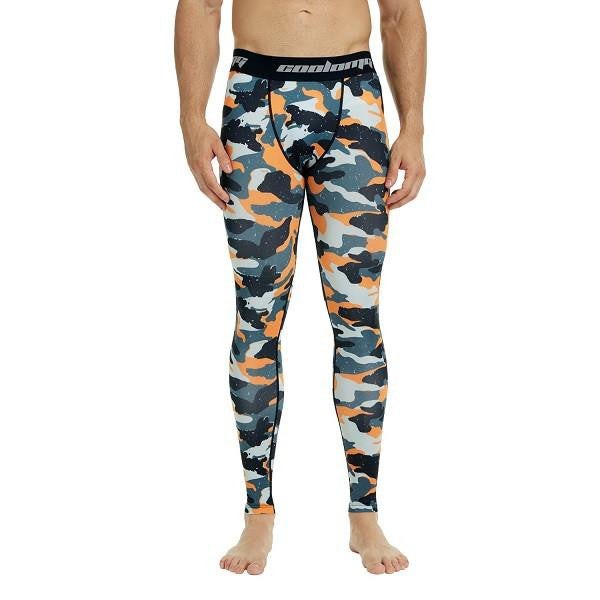 3521e2b637 COOLOMG Orange Camon Compression Pants Running Tights Length Pants For –  ARM SLEEVES - Knee Sleeves - COOLOMG