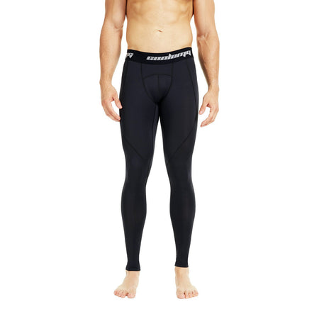COOLOMG Compression Pants GYM Running Tights Length Pants Leggings For Men Youth Boy Black