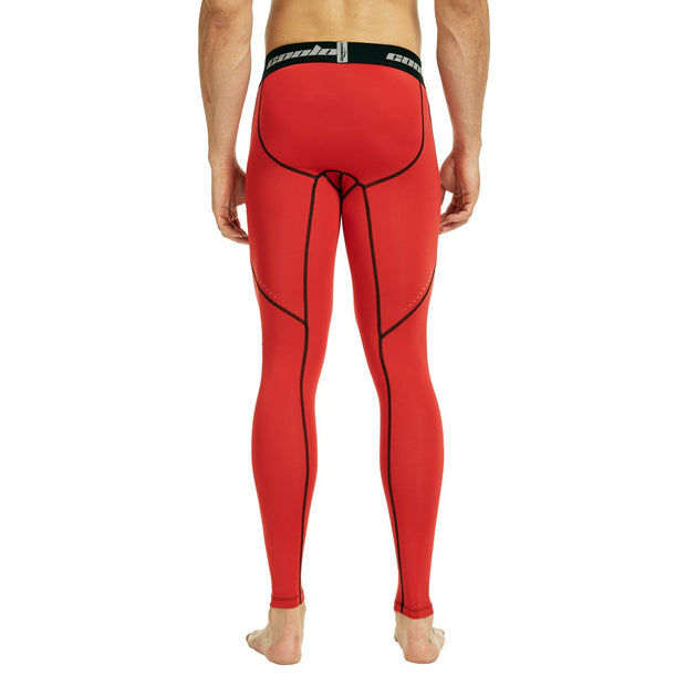 Red Compression Pants Tights
