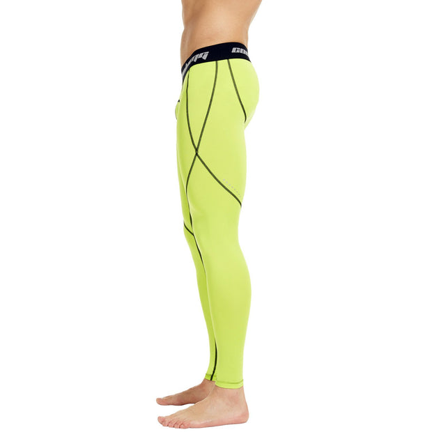 Yellow Compression Pants Tights