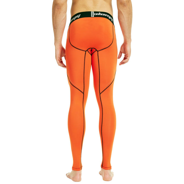 Orange Compression Pants Tights