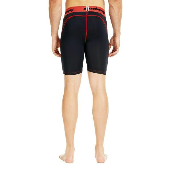 Men's Black Red 7'' Fitness Shorts