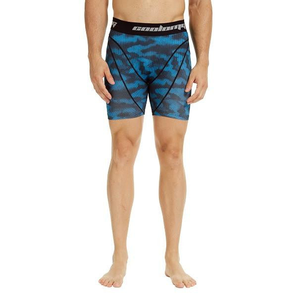 Men's Light Blue Camo 5.5'' Fitness Shorts