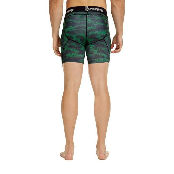 Men's Green Camo 6'' Fitness Shorts