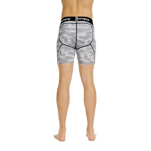 Men's Light Gray Camo Fitness Shorts