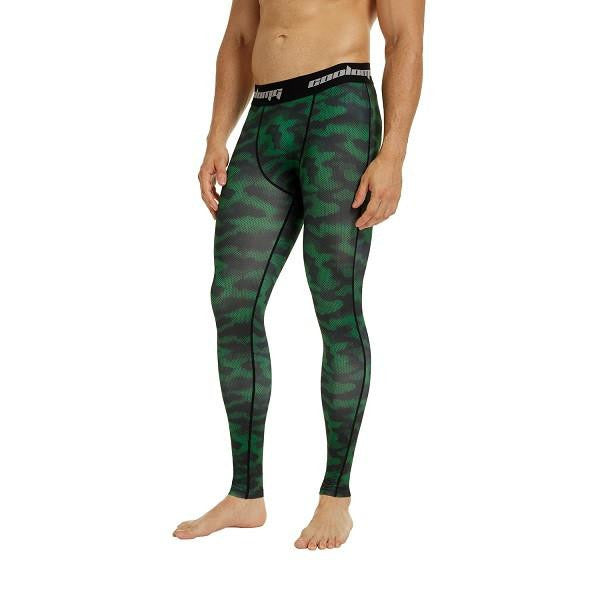 b255f67938714 COOLOMG Green Camo Compression Pants Running Tights Length Pants For Men  Youth Boy