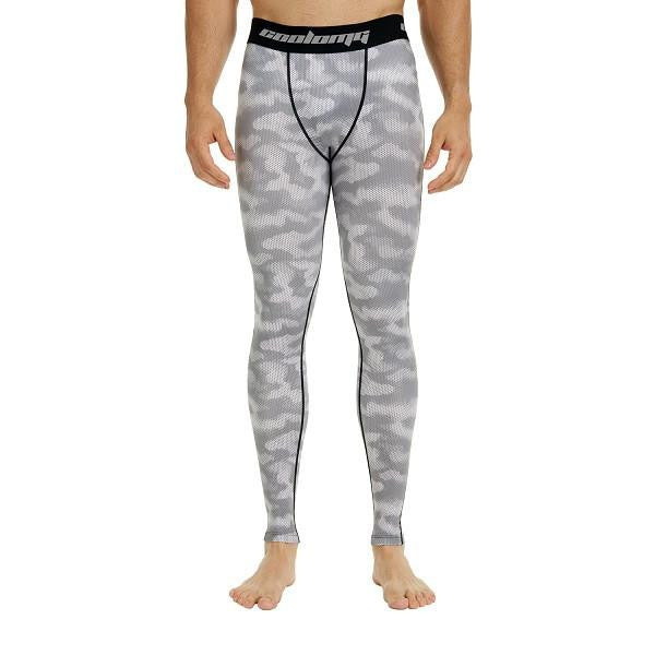 da9073bd7b1f1 COOLOMG Gray Camo Compression Pants Running Tights Length Pants For Me –  ARM SLEEVES - Knee Sleeves - COOLOMG