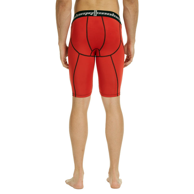 "Men's Red 9"" Fitness Shorts"