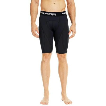 COOLOMG Men's Training Shorts Compression Underwear Fitness Pants Gym Black