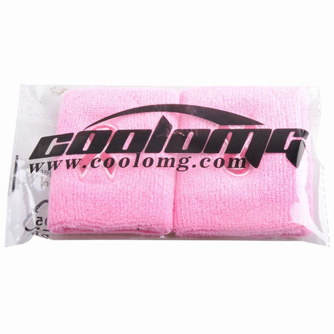 2 Pieces COOLOMG Cotton Towel Wristbands Breast Cancer Awareness Pink Ribbon in 3 Colors