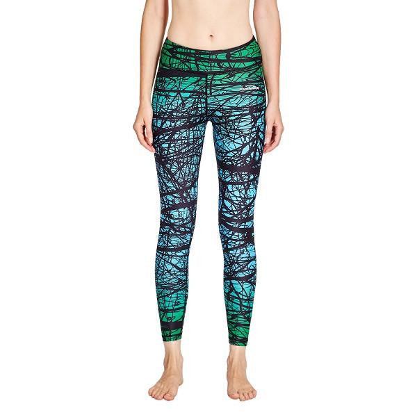 COOLOMG Compression Pants Yoga Running Tights Leggings For Women & Youth Girl Green Forest