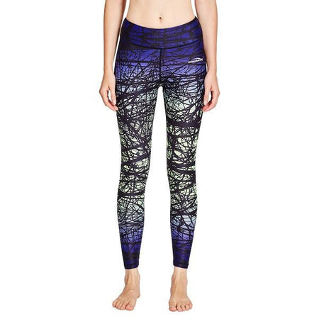COOLOMG Compression Pants Yoga Running Tights Leggings For Women Youth Girl Yellow Forest