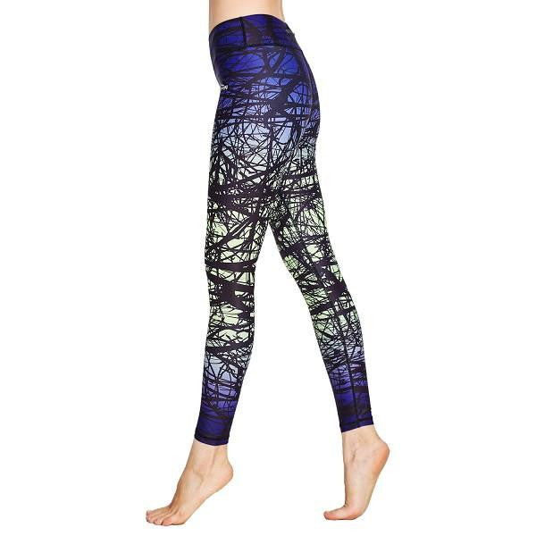 bb45186ba0 COOLOMG Compression Pants Yoga Running Tights Leggings For Women Youth Girl  Yellow Forest