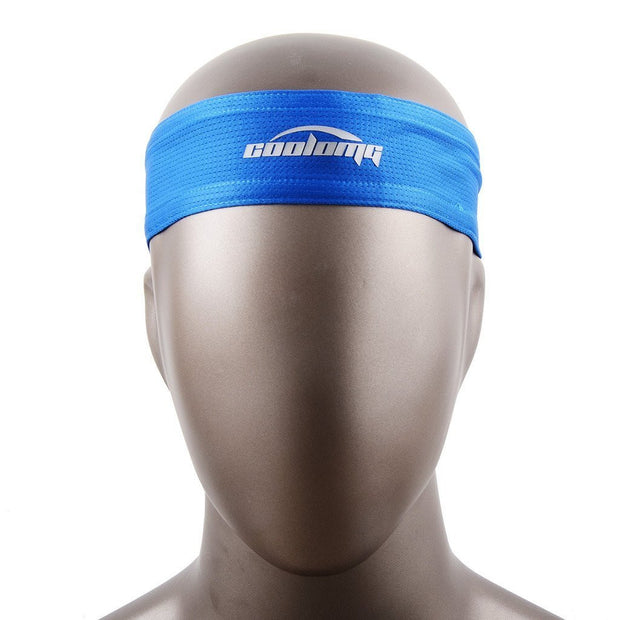 New Tennis Men Headband Sports Basketball Volleyball Soccer Training Blue  Head Band