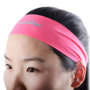 COOLOMG Seamless Moisture Wicking Stretchy Headband For Sports Yoga Running Men Women Black Pink