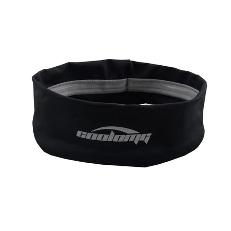 COOLOMG Black Headband Solid Moisture Wicking Stretchy Non-slip For Sports Yoga Running Men Women
