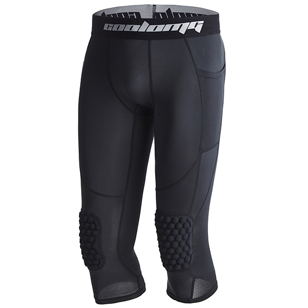 Big Kids ¾ Length Compression Tight with Knee Pads