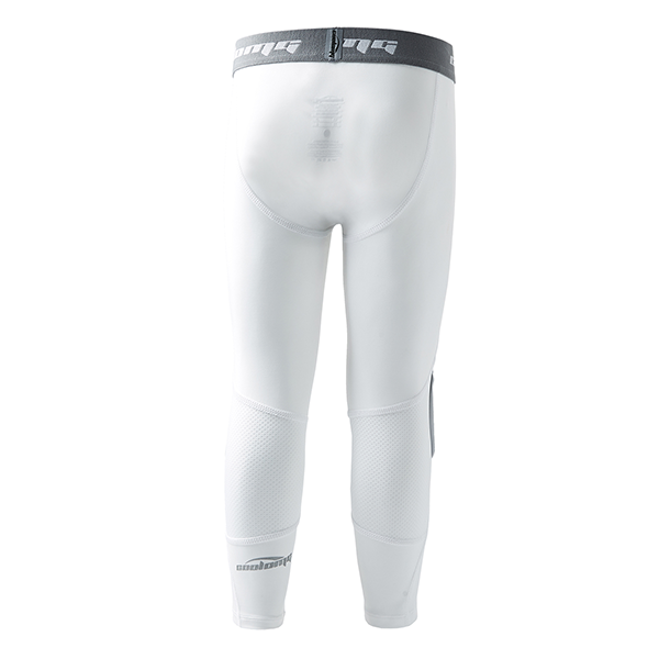 Boys White Basketball 3/4 Running Tights