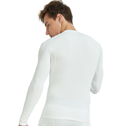 Men's White Thermal Fleece Lined Shirts