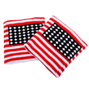 Cotton American Flag Wristbands