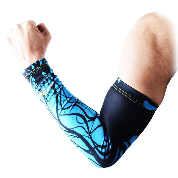 Blue Ink Compression Arm Sleeve