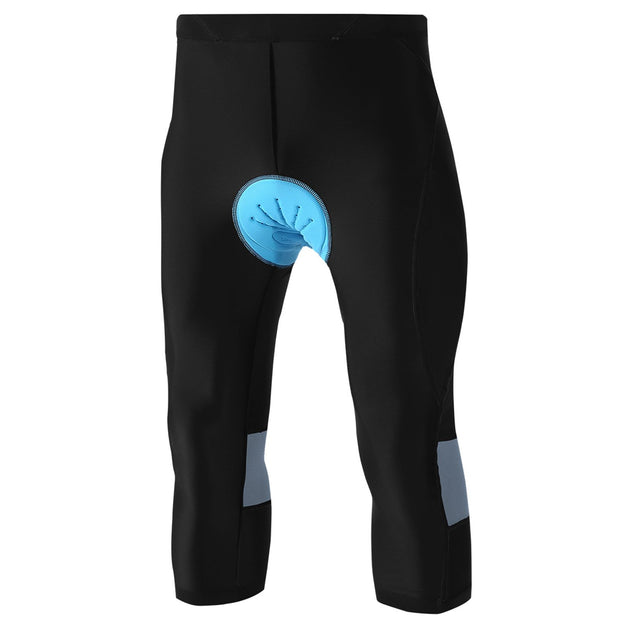 4D Padded Cycling Capris with Pocket for Men