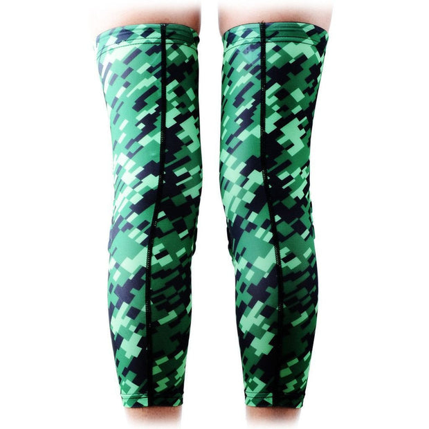 Camo Green Black Knee Pads Sleeves 2PCS