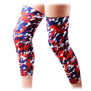 Red Blue Knee Pads Sleeves 2 PCS