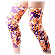 COOLOMG (Pair) Basketball Knee Pads For Kids Adult Digital Camo Yellow Purple