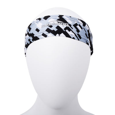 COOLOMG 1PCS Grey Black Headband Sports Basketball Volleyball Soccer Training Sweat Band