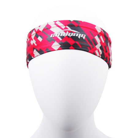 COOLOMG 1PCS Pink White Headband Sports Basketball Volleyball Soccer Training Sweat Band