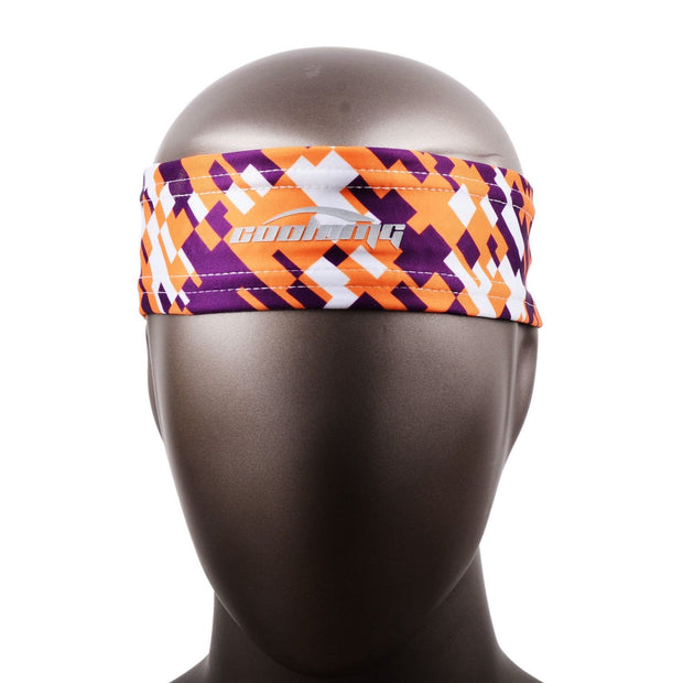 COOLOMG 1PCS Yellow Purple Headband Sports Basketball Volleyball Soccer Training Sweat Band