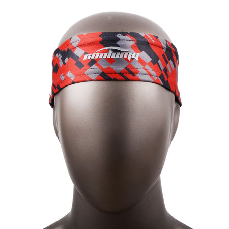 COOLOMG 1PCS Red Black Headband Sports Basketball Volleyball Soccer Training Sweat Band