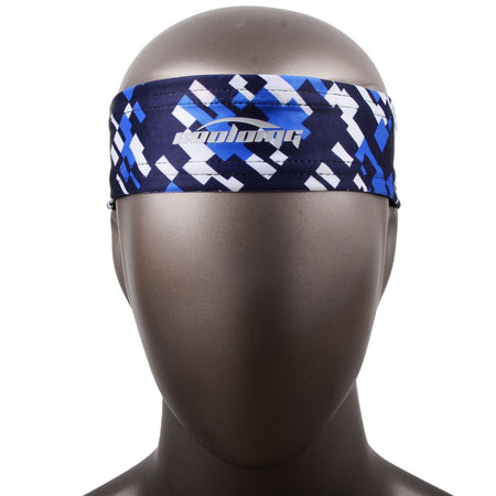 COOLOMG 1PCS Blue White Headband Sports Basketball Volleyball Soccer Training Sweat Band