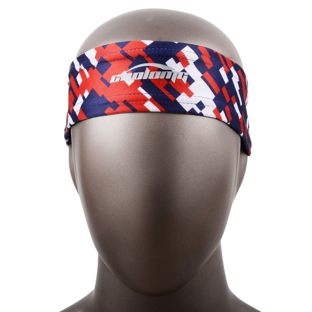 COOLOMG 1PCS Red Blue Headband Sports Basketball Volleyball Soccer Training Sweat Band