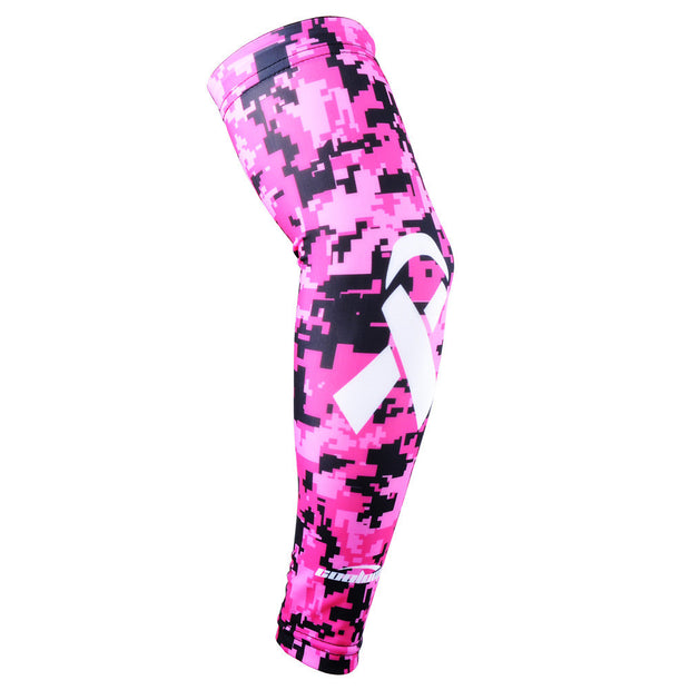 Ribbon Breast Cancer Awareness Arm Sleeve- Rose Pink