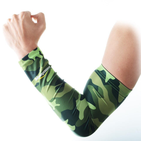 COOLOMG 1PCS Anti-slip Arm Sleeve Camouflage Green