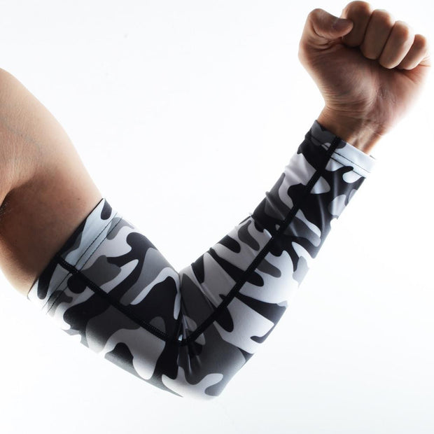 Camo Gray UV Protection Arm Sleeves