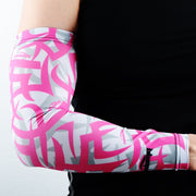 COOLOMG (1 Piece) Compression Arm Sleeve Youth Boys Mens Anti-slip Pink