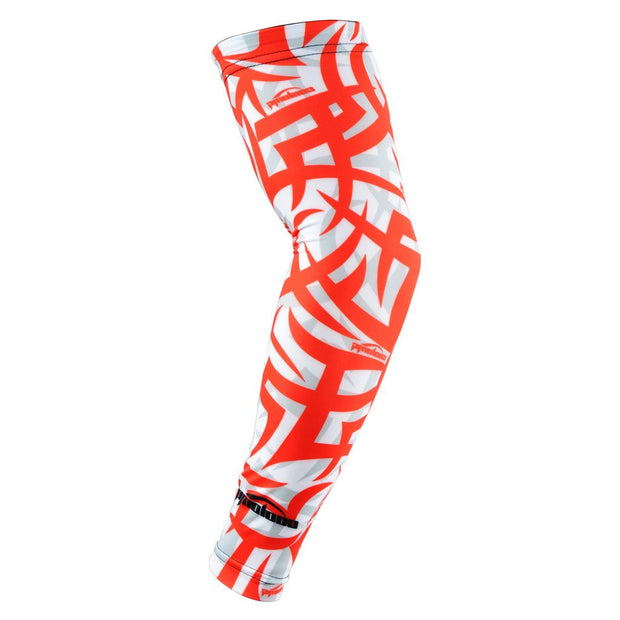 COOLOMG (1 Piece) Compression Arm Sleeve Youth Adult Anti-slip UV Protection Baseball Red