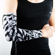 1 Piece COOLOMG Compression Arm Sleeve Animals UV Protection Baseball Gray