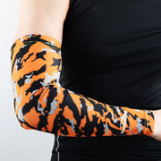 Camo Orange Compression Arm Sleeve
