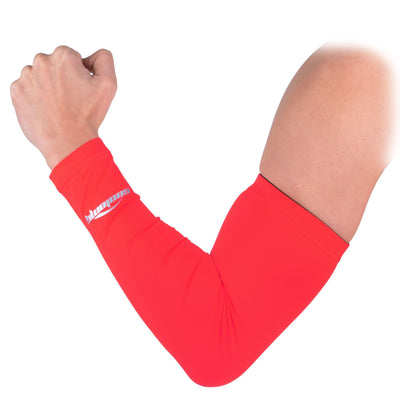 COOLOMG 1PCS Anti-slip Arm Sleeve Red SP017RD