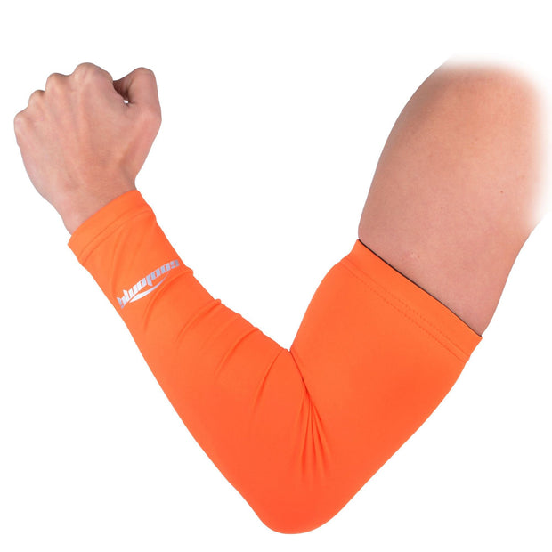 COOLOMG 1PCS Anti-slip Arm Sleeve Orange SP017OE