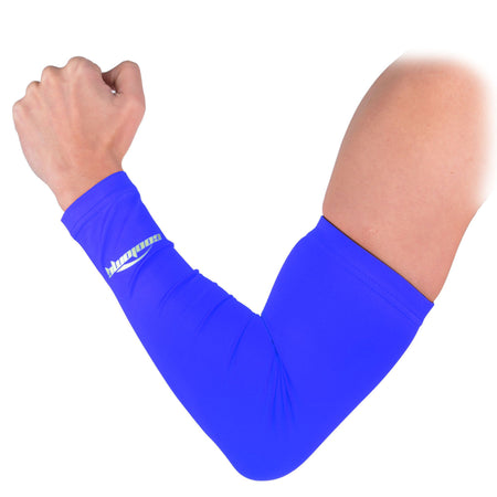 COOLOMG 1PCS Anti-slip Arm Sleeve Blue SP017BL